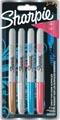 Sharpie permanente marker metallic, fijne punt, blister van 4 stuks in geassorteerde kleuren