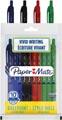 Paper Mate stylo bille Alfa RT, étui de 10 pièces en couleurs assorties