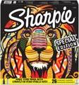 Sharpie permanente marker Leeuw, fijn en extra fijn, doos van 26 stuks in geassorteerde kleuren