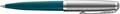 Parker 51 balpen Teal Blue CT, zwarte inkt