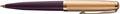 Parker 51 Premium balpen Plum GT, zwarte inkt