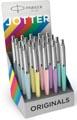 Parker Jotter Originals Pastel stylo bille, présentoir de 20 pièces en couleurs assorties
