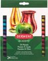 Derwent pastels à l'huile Academy , blister de 24 pièces en couleurs assorties