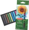 Derwent pastels douce Academy , blister de 12 pièces en couleurs assorties