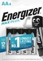 Energizer piles Max Plus AA, blister de 4 pièces