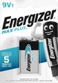 Energizer pile Max Plus 9V, en blister