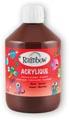 Rainbow peinture acrylique, flacon de 500 ml, brun