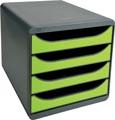 Exacompta ladenblok Big-Box muisgrijs/anijsgroen