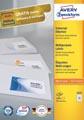 Avery Zweckform 3421, étiquettes universelles, Ultragrip, blanc, 100 feuilles, 70 x 25,4 mm