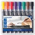 Staedtler permanent marker Lumocolor 352, doos met 8 stuks in geassorteerde kleuren
