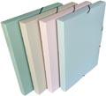 Bronyl boîte de classement Smooth, pour ft A4, en PP, couleurs assorties