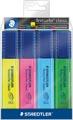 Staedtler Markeerstift Textsurfer Classic, etui van 4 stuks: geel, roze, blauw en groen