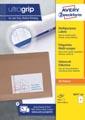 Avery Zweckform 3655-2, Universele etiketten, Ultragrip, wit, 200 vel, 2 per vel, ft 210 x 148 mm