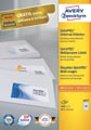 Avery Zweckform 3657, Universele etiketten, Ultragrip, wit, 100 vel, 40 per vel, 48,5 x 25,4 mm