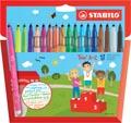 STABILO Trio A-Z feutre, étui de 18 pièces en couleurs assorties