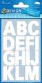 Avery Etiquettes chiffres et lettres A-Z large, 2 feuilles, blanc, film résistant aux intempéries