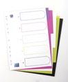 OXFORD MyColour intercalaires, format A4, en PP coloré, 11 trous, 5 onglets