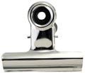 LPC Bulldogclip 75 mm, zilver, doosje van 10