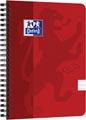 Oxford Touch spiraalblok, ft A5, 140 bladzijden, rood, gelijnd