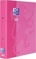 Oxford Touch ringmap uit karton, voor ft A4, rug van 4 cm, 2 ringen, roze