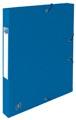 Elba elastobox Oxford Top File+ rug van 2,5 cm, blauw