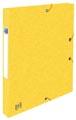 Elba elastobox Oxford Top File+ rug van 2,5 cm, geel