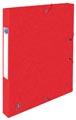 Elba elastobox Oxford Top File+ rug van 2,5 cm, rood