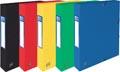 Elba elastobox Oxford Top File+ rug van 4 cm, geassorteerde kleuren