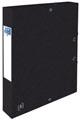 Elba elastobox Oxford Top File+ rug van 4 cm, zwart