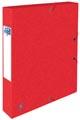 Elba elastobox Oxford Top File+ rug van 4 cm, rood