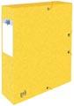 Elba elastobox Oxford Top File+ rug van 6 cm, geel