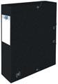 Elba elastobox Oxford Top File+ rug van 6 cm, zwart