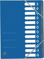 Elba Oxford Top File+ trieur, 12 compartiments, avec des élastiques, bleu