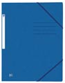 Oxford Top File+ elastomap uit karton, ft A4, blauw