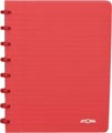 Atoma cahier Trendy ft A5, quadrillé commercial, rouge transparent