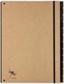 Pagna trieur Pur pour ft A4, 12 compartiments, brun