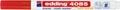 Edding Marqueur craie e-4085, pointe ronde de 1 - 2 mm, rouge