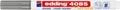Edding Marqueur craie e-4085, pointe ronde de 1 - 2 mm, argent