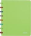 Atoma schrift Tutti Frutti ft A5, gelijnd, transparant groen