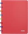 Atoma schrift Tutti Frutti ft A5, gelijnd, transparant rood