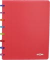 Atoma schrift Tutti Frutti ft A5, geruit 5 mm, transparant rood