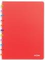 Atoma schrift Tutti Frutti ft A4, gelijnd, transparant rood