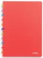 Atoma schrift Tutti Frutti ft A4, geruit 5 mm, transparant rood