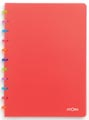 Atoma schrift Tutti Frutti ft A4, commercieel geruit, transparant rood