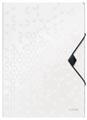 Leitz WOW elastomap met 3 kleppen, uit PP, ft A4, wit