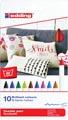 Edding feutre textile 4600, set de 10 stuks en couleurs assorties