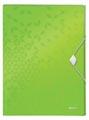 Leitz WOW elastobox ft A4, groen