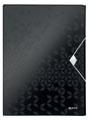 Leitz WOW elastobox ft A4, zwart