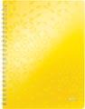 Leitz WOW schrift ft A4, gelijnd, geel