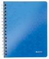Leitz WOW schrift ft A4, gelijnd, blauw
